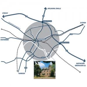 route kaart SRO Arnhem klein